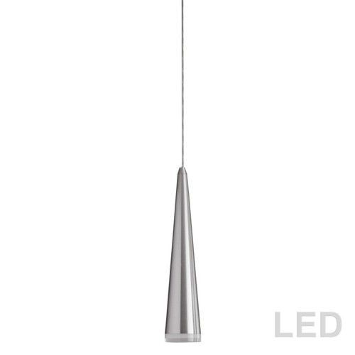 Dainolite Lighting  418LED-121P-SC 5W LED Pendant, Satin Chrome Finish