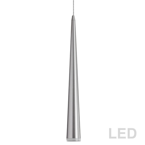 Dainolite Lighting  418LED-361P-SC 5W LED Pendant, Satin Chrome Finish