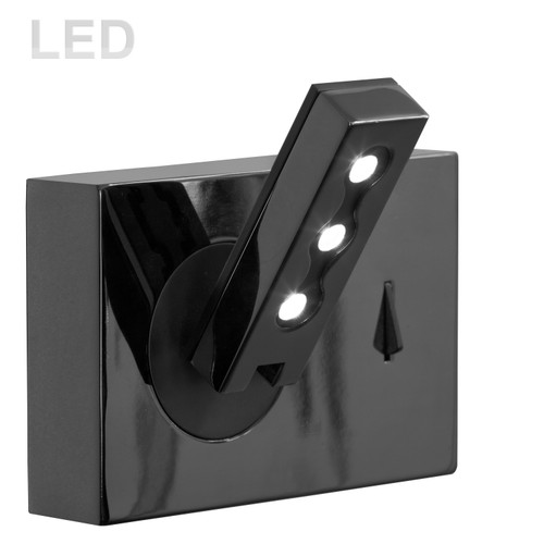 Dainolite Lighting  479LEDW-BK Wall Sconce w/LED Reading Lamp, Black