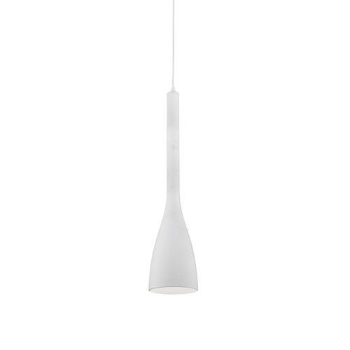Dainolite Lighting  480-1P-WH 1 Light Pendant, Matte White Finish
