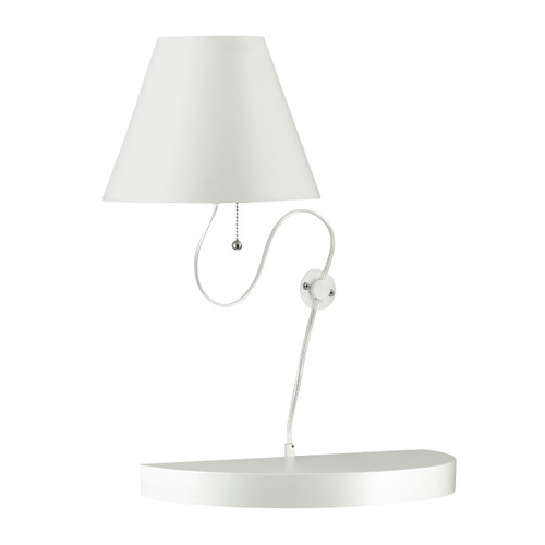 Dainolite Lighting  504-1W-MW 1 Light Incandescent Wall Sconce Matte White Finish with White Shade