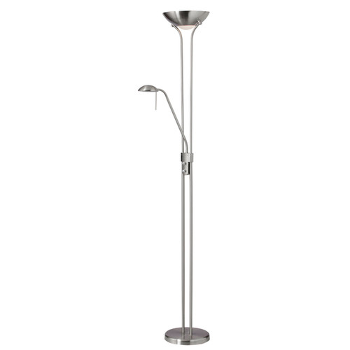 Dainolite Lighting  505F-SC Mother/Son Floor Lamp, Satin Chrome