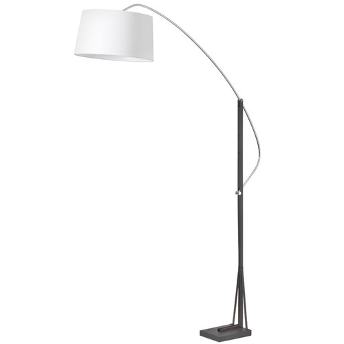 Dainolite Lighting  585F-PC-BK Arc Floor Lamp, Polished Chrome / Matte Black