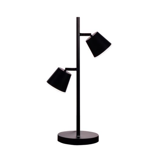 Dainolite Lighting  624LEDT-BK 2 Light LED Table Lamp, Matte Black Finish
