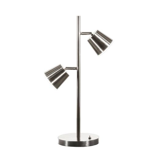 Dainolite Lighting  624LEDT-SC 2 Light LED Table Lamp, Satin Chrome Finish