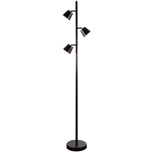 Dainolite Lighting  625LEDF-BK 3 Light LED Floor Lamp, Matte Black Finish