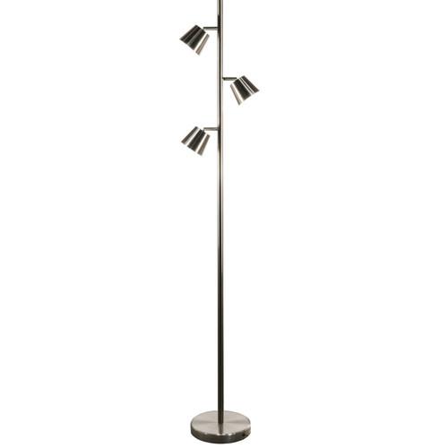 Dainolite Lighting  625LEDF-SC 3 Light LED Floor Lamp, Satin Chrome Finish