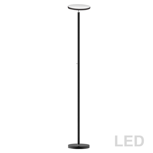 Dainolite Lighting  701LEDF-SB LED Torchier, Satin Black Finish