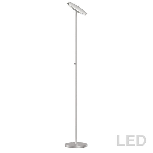 Dainolite Lighting  701LEDF-SN LED Torchier, Satin Nickel Finish