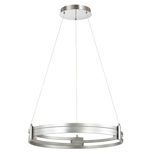 Dainolite Lighting  722-LEDP24-SV LED Pendant, Silver Finish, Polished Chrome Accents
