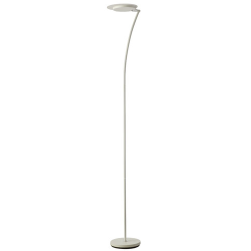 Dainolite Lighting  793LEDF-WH LED Torchier, Matte White, Swivel Head, White Frosted Diffuser