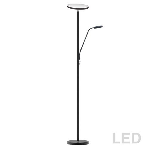 Dainolite Lighting  801LEDF-SB Mother and Son LED Floor Lamp, Satin Black Finish