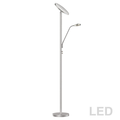 Dainolite Lighting  801LEDF-SN Mother and Son LED Floor Lamp, Satin Nickel Finish