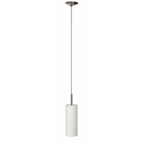 Dainolite Lighting  83202-SC-WH 1 Light Pendant, Satin Chrome, White Frosted Glass