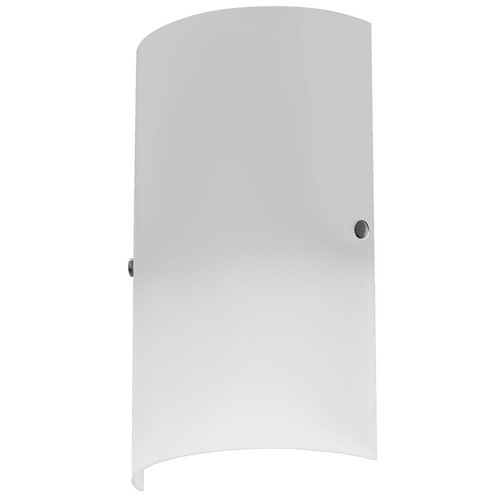 Dainolite Lighting  83204W-WH 1 Light Wall Sconce, Satin Chrome Accents, White Frosted Glass
