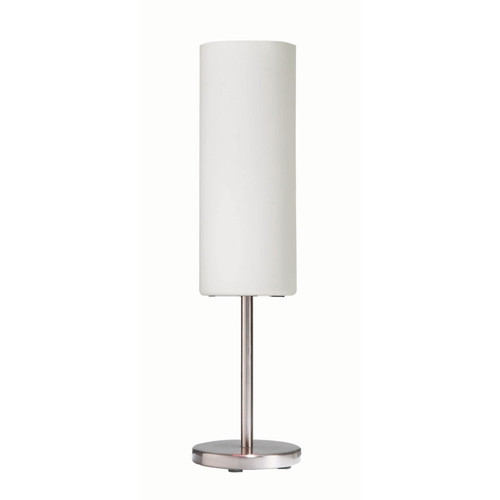 Dainolite Lighting  83205-SC-WH Table Lamp, White Frosted Glass