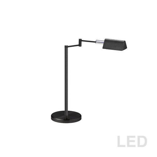 Dainolite Lighting  9157LEDT-BK 5W LED Swing Arm Table Lamp, Black Finish