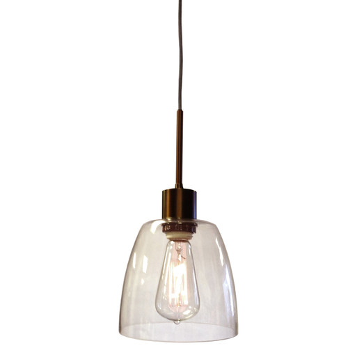 Dainolite Lighting  9171-1P-OBB 1 Light Pendant, Oil Brushed Bronze Finish,Clear Glass Shade