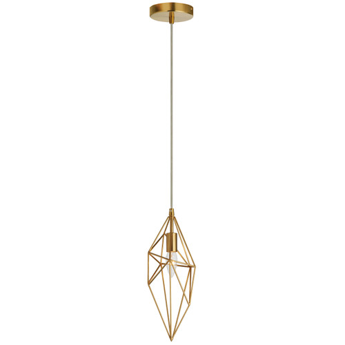 Dainolite Lighting  918-1P-AGB 1 Light Incandescent Pendant, Aged Brass Finish