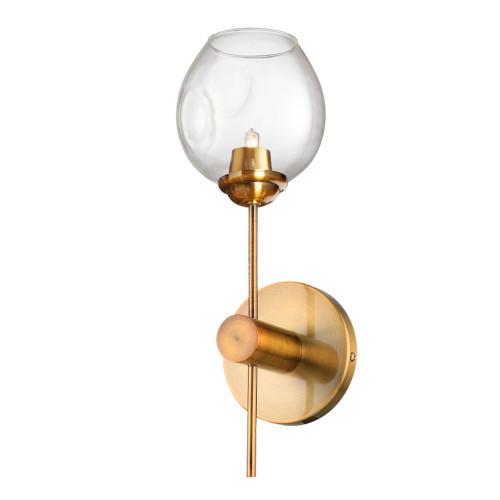 Dainolite Lighting  ABI-141W-VB-CLR 1 Light Halogen Wall Sconce, Vintage Bronze with Clear Glass