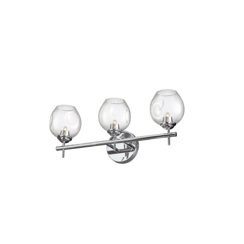 Dainolite Lighting  ABI-203W-PC 3 Light Halogen Vanity Polished Chrome with Clear Glass