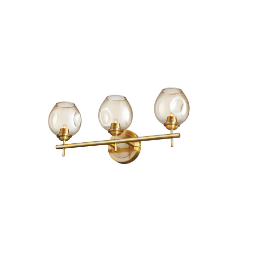 Dainolite Lighting  ABI-203W-VB 3 Light Halogen Vanity Vintage Bronze with Champagne Glass