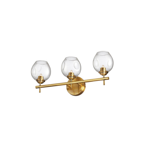 Dainolite Lighting  ABI-203W-VB-CLR 3 Light Halogen Vanity Vintage Bronze with Clear Glass