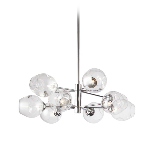 Dainolite Lighting  ABI-268P-PC 8 Light Pendant, Polished Chrome Finish with Clear Glass
