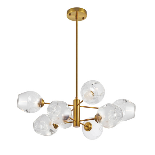Dainolite Lighting  ABI-268P-VB-SP-CLR 8 Light Halogen Pendant, Vintage Bronze with Clear Glass