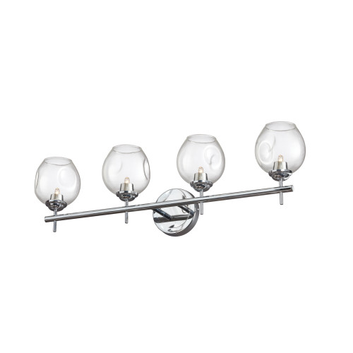 Dainolite Lighting  ABI-284W-PC 4 Light Halogen Vanity Polished Chrome with Clear Glass