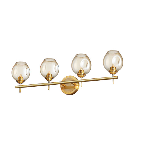 Dainolite Lighting  ABI-284W-VB 4 Light Halogen Vanity Vintage Bronze with Champagne Glass