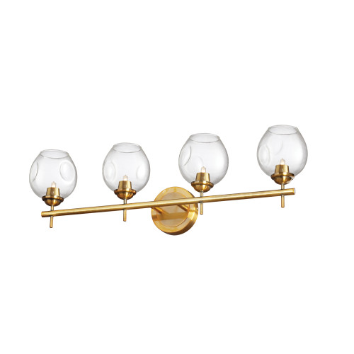 Dainolite Lighting  ABI-284W-VB-CLR 4 Light Halogen Vanity Vintage Bronze with Clear Glass
