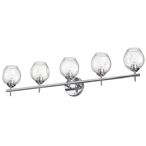 Dainolite Lighting  ABI-365W-PC 5 Light Halogen Vanity Polished Chrome with Clear Glass