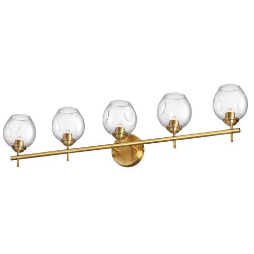 Dainolite Lighting  ABI-365W-VB-CLR 5 Light Halogen Vanity Vintage Bronze with Clear Glass