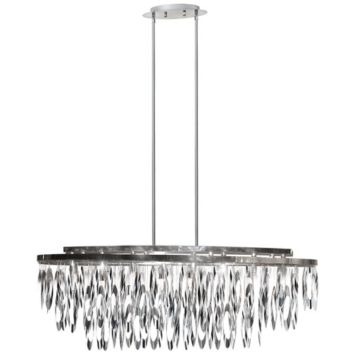 Dainolite Lighting  ALL-368C-PC 8 Light Oval Chandelier Polished Chrome Finish