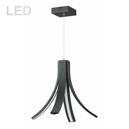 Dainolite Lighting  ALN-174P-MB 28W LED Pendant Matte Black Finish