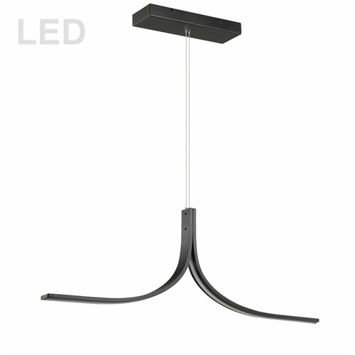 Dainolite Lighting  ALN-402HP-MB 26W LED Horizontal Pendant Matte Black Finish