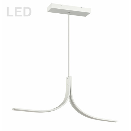 Dainolite Lighting  ALN-402HP-MW 26W LED Horizontal Pendant Matte White Finish