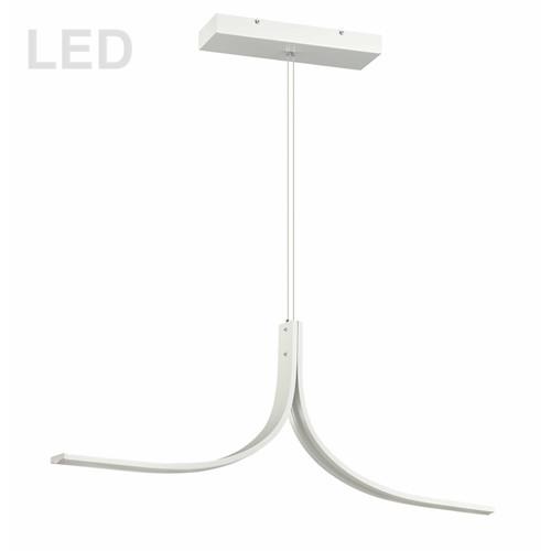 Dainolite Lighting  ALN-402HP-MW 26W LED Horizontal Pendant Matte White Finish