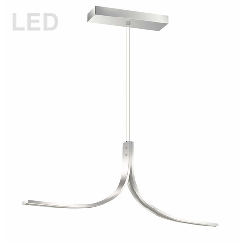 Dainolite Lighting  ALN-402HP-PC 26W LED Horizontal Pendant Polished Chrome Finish