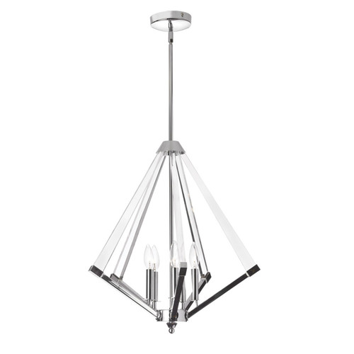 Dainolite Lighting  ALT-225C-PC 5 Light Chandelier, Polished Chrome Finish with Acrylic Arms