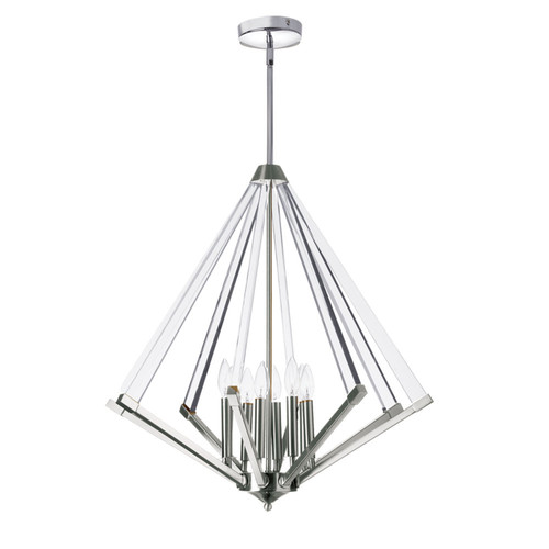 Dainolite Lighting  ALT-278C-PC 8 Light Chandelier, Polished Chrome  With Acrylic Arms