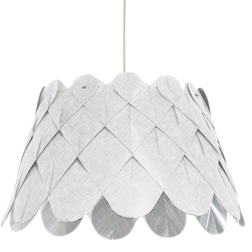 Dainolite Lighting  AMI181-PC-2400 1 Light Amirah Pendant Camelot White, Polished Chrome