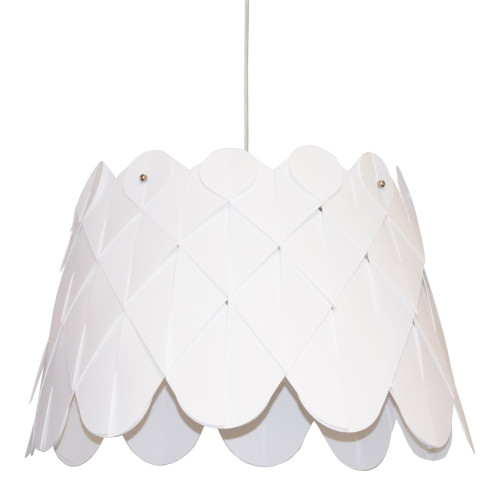 Dainolite Lighting  AMI181-PC-790 1 Light Amirah Pendant JTone White,Polished Chrome