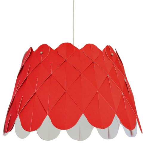 Dainolite Lighting  AMI181-PC-795 1 Light Amirah Pendant JTone Red, Polished Chrome