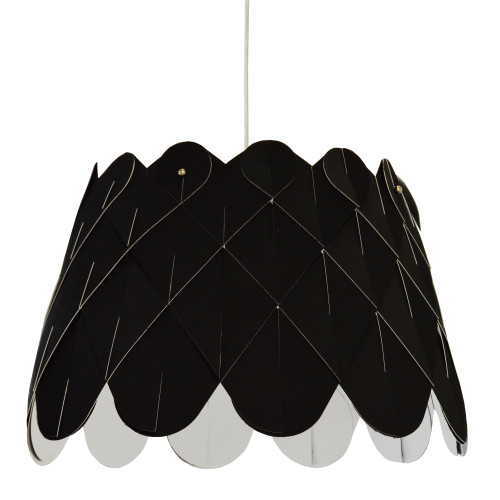 Dainolite Lighting  AMI181-PC-797 1 Light Amirah Pendant JTone Black, Polished Chrome