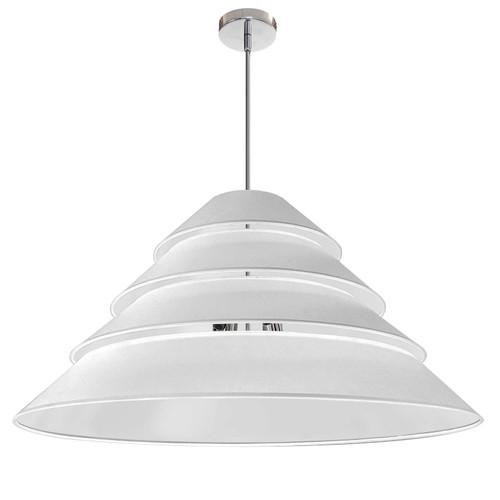 Dainolite Lighting  ARA-4P-PC-790 4Light Aranza Pendant, White Shade, Polished Chrome