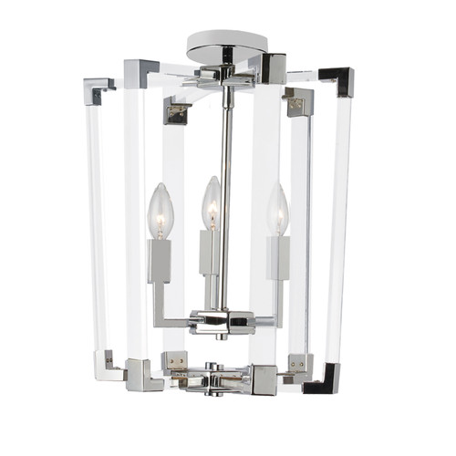Dainolite Lighting  ART-143P-PC 3 Light Incandescent Pendant, Polished Chrome Finish with Clear Acrylic