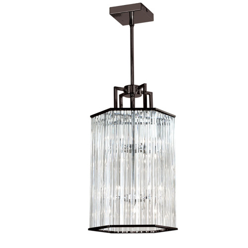 Dainolite Lighting  ARU-206C-VOB 6 Light Crystal Foyer Lantern,Vintage Oiled Bronze