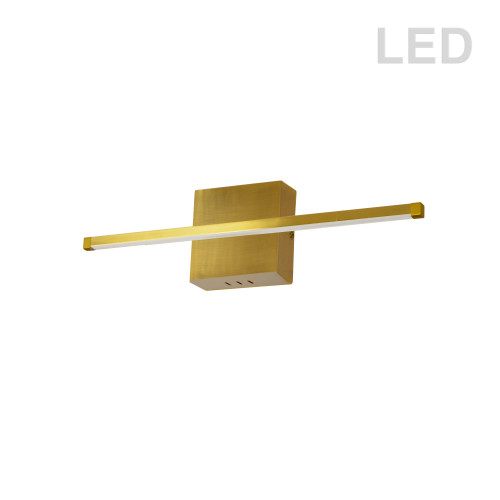 Dainolite Lighting  ARY-2419LEDW-AGB 19W LED Wall Sconce, Aged Brass with White Acrylic Diffuser